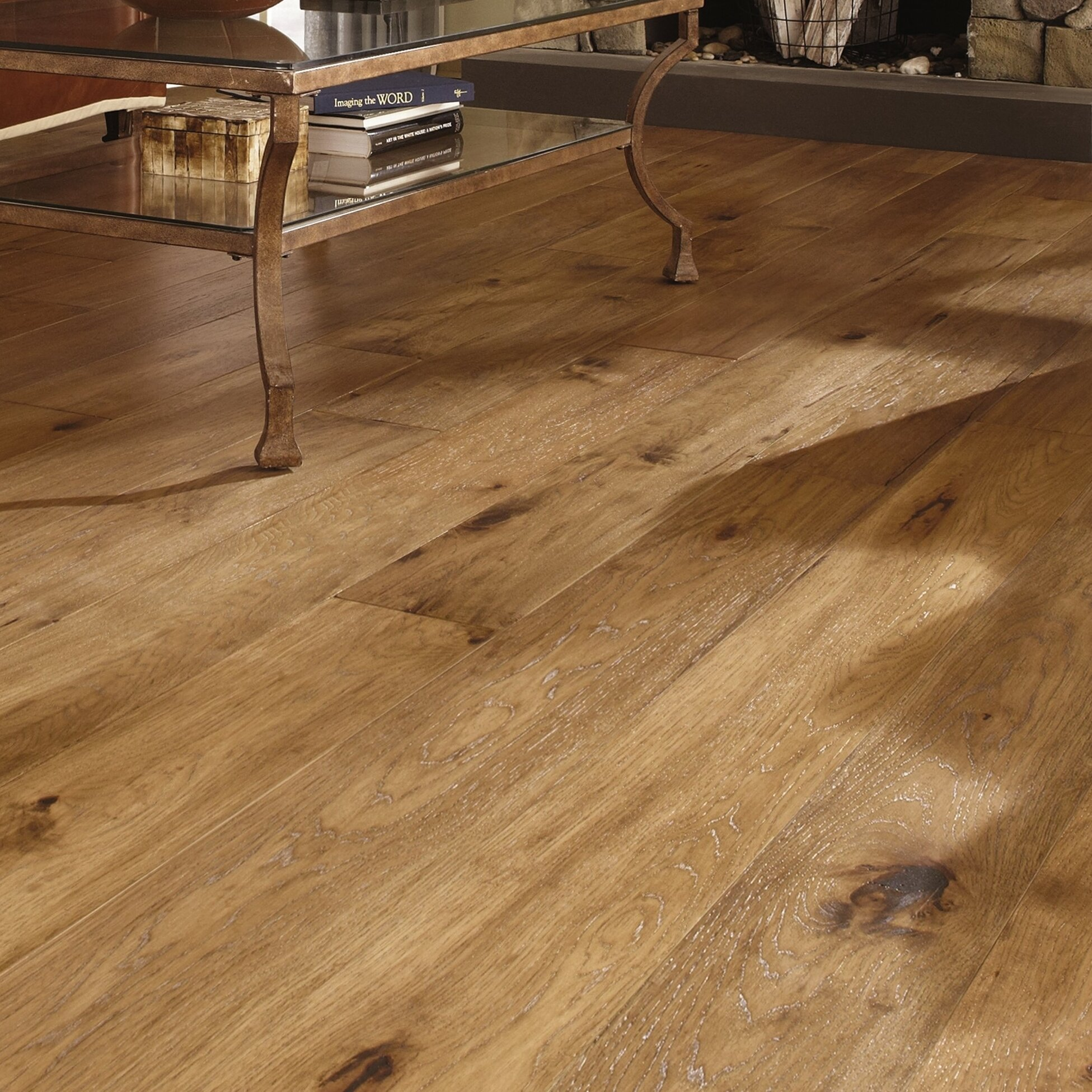 "Mannington Maison 7"" Solid Hickory Hardwood Flooring In"