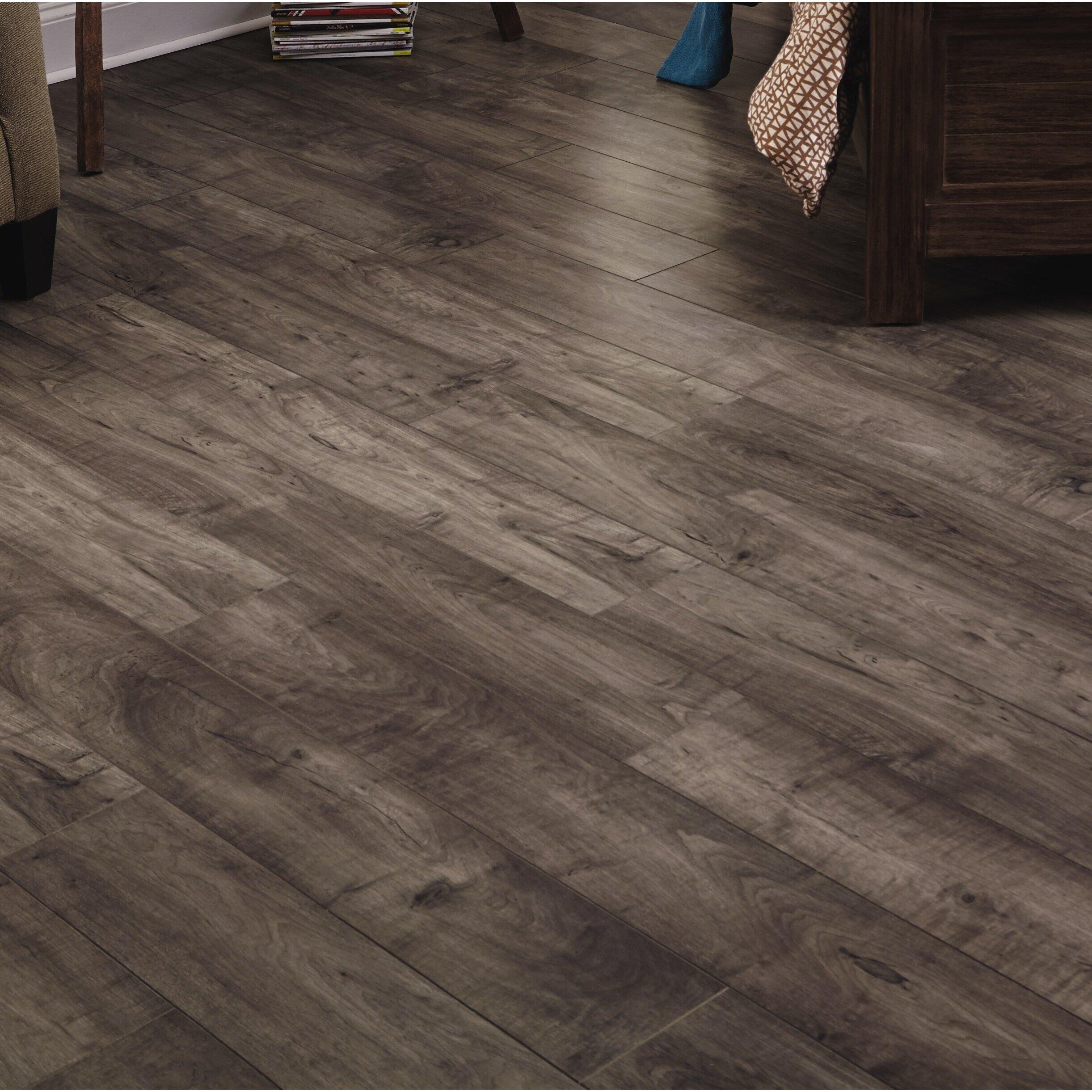 "Wide Board Laminate Flooring: Mannington Restoration™ Wide Plank 8"" X 51"" X 12mm Maple"