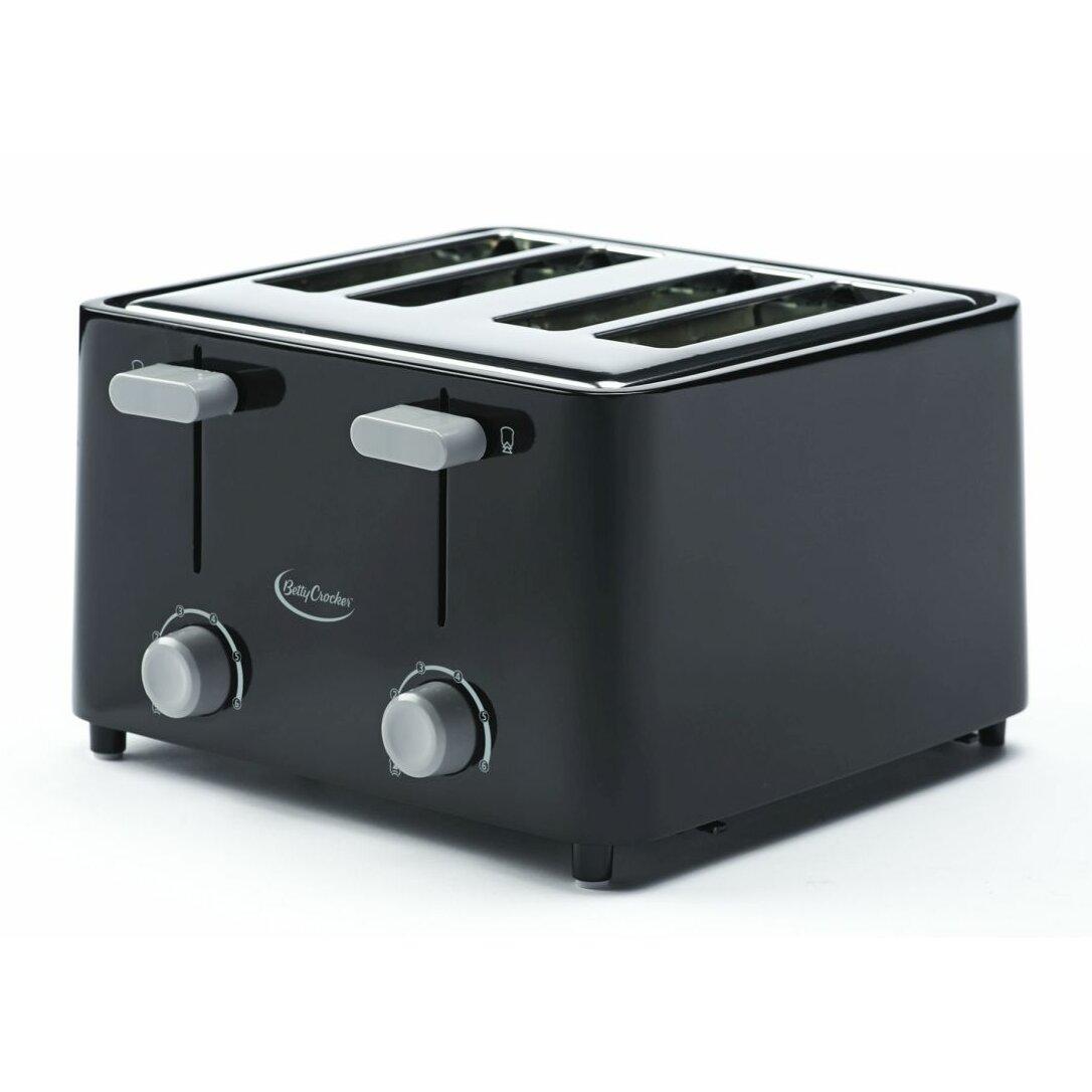 Glass Toaster 4 Slice ~ Betty crocker slice toaster reviews wayfair