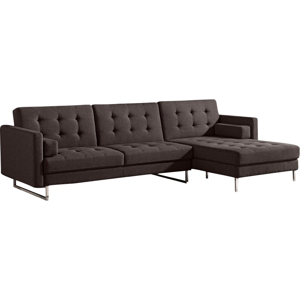 Diamond sofa opus sleeper sectional reviews wayfair for Sleeper sectional