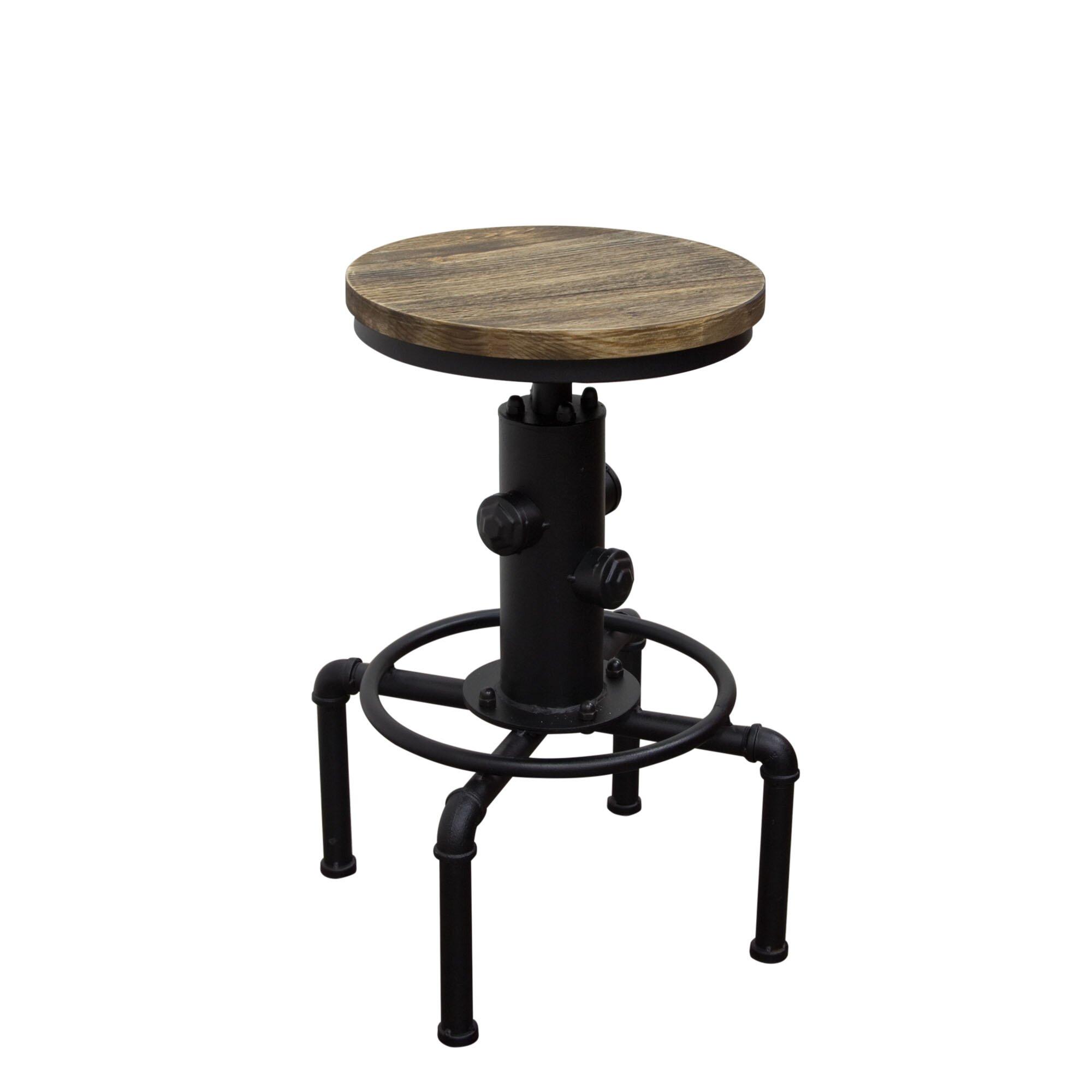 Diamond sofa brooklyn adjustable height bar stool for Adjustable height bar stools