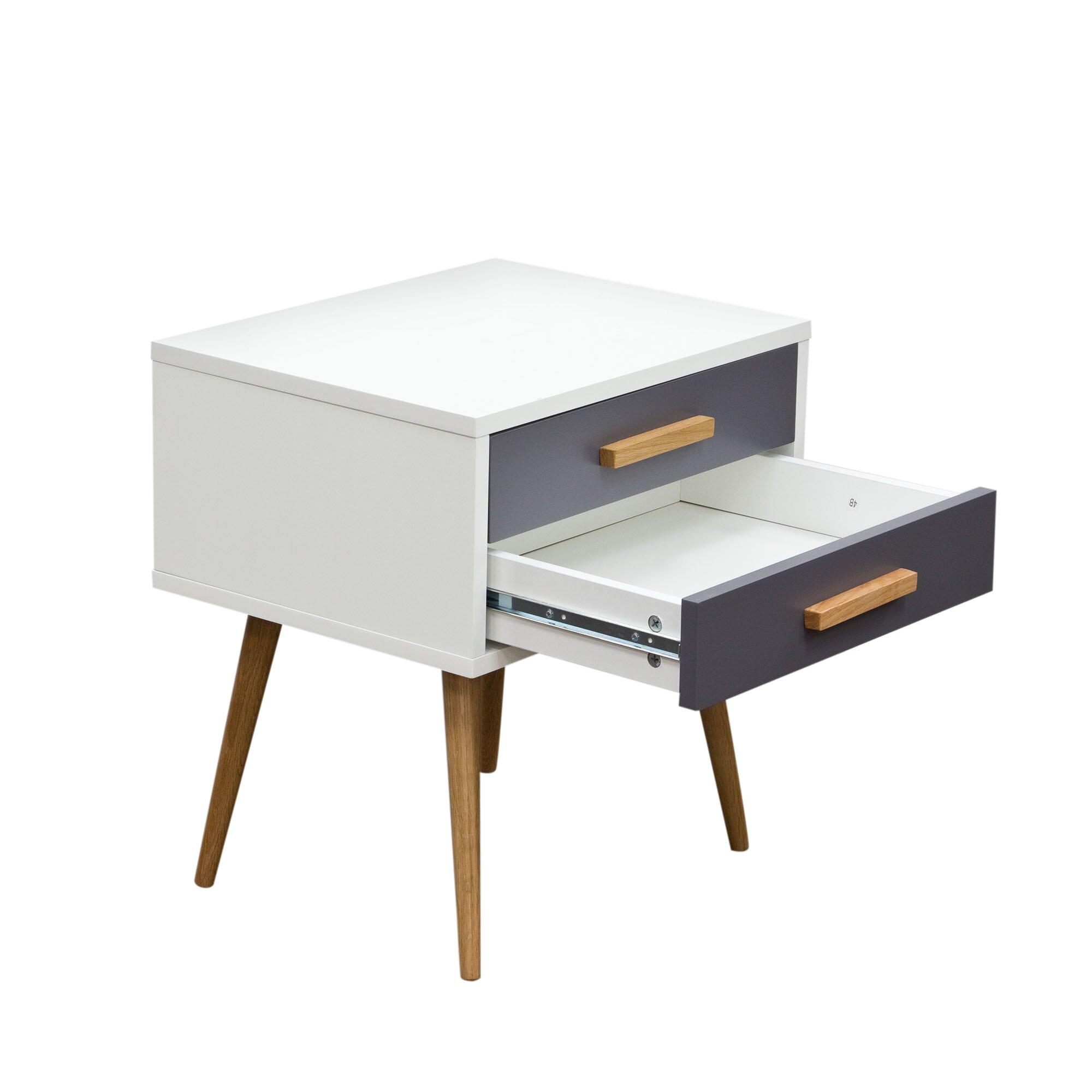 Diamond sofa tangent end table reviews wayfair for Sofa end tables