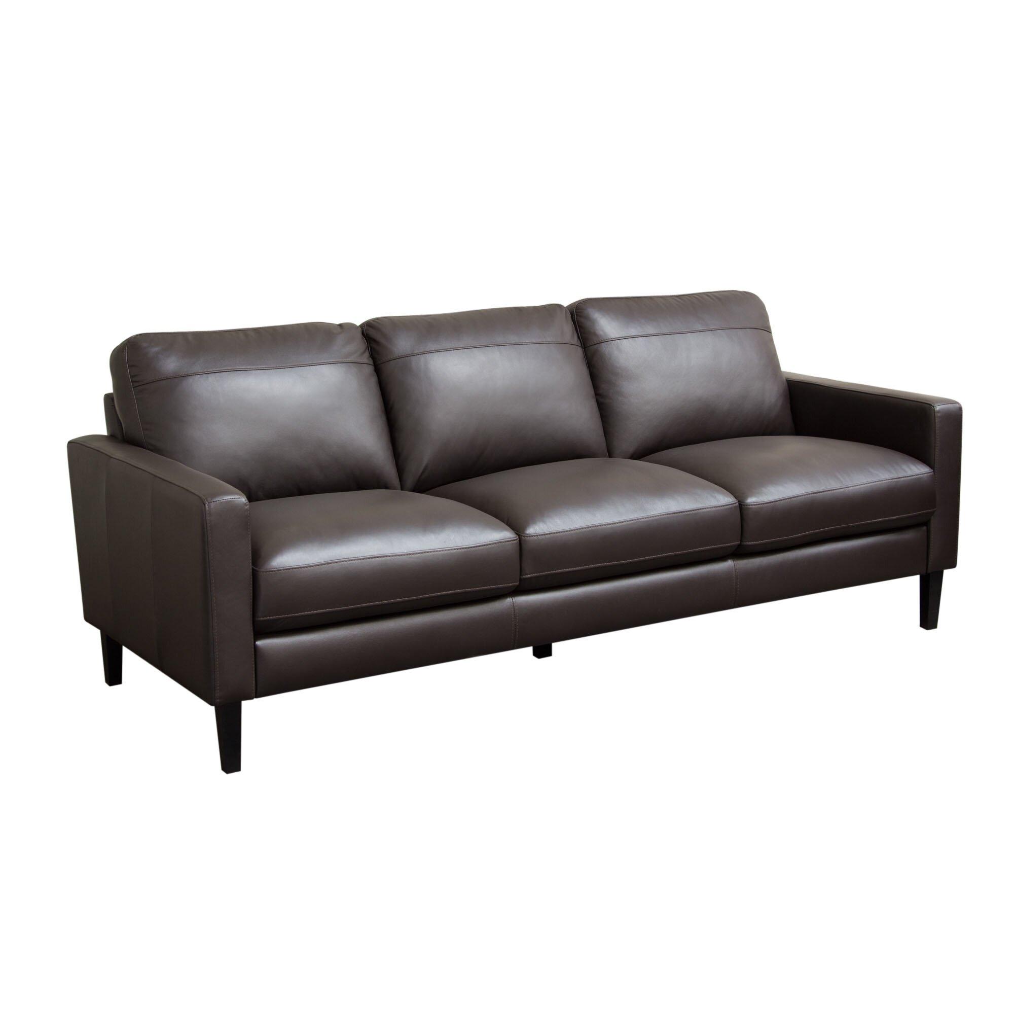 Diamond sofa omega full leather sofa reviews wayfair for Leather sofa reviews