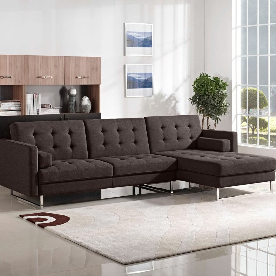 Diamond Sofa Opus Sleeper Sectional Reviews Wayfair
