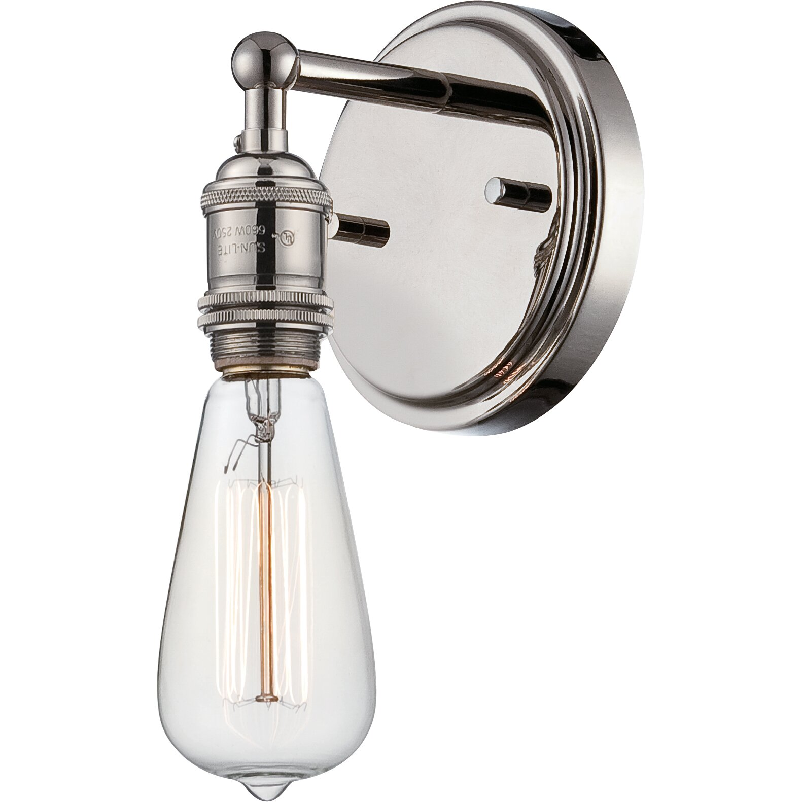 bathroom sconce lighting nuvo lighting vintage 1 light bath sconce amp reviews wayfair 11237