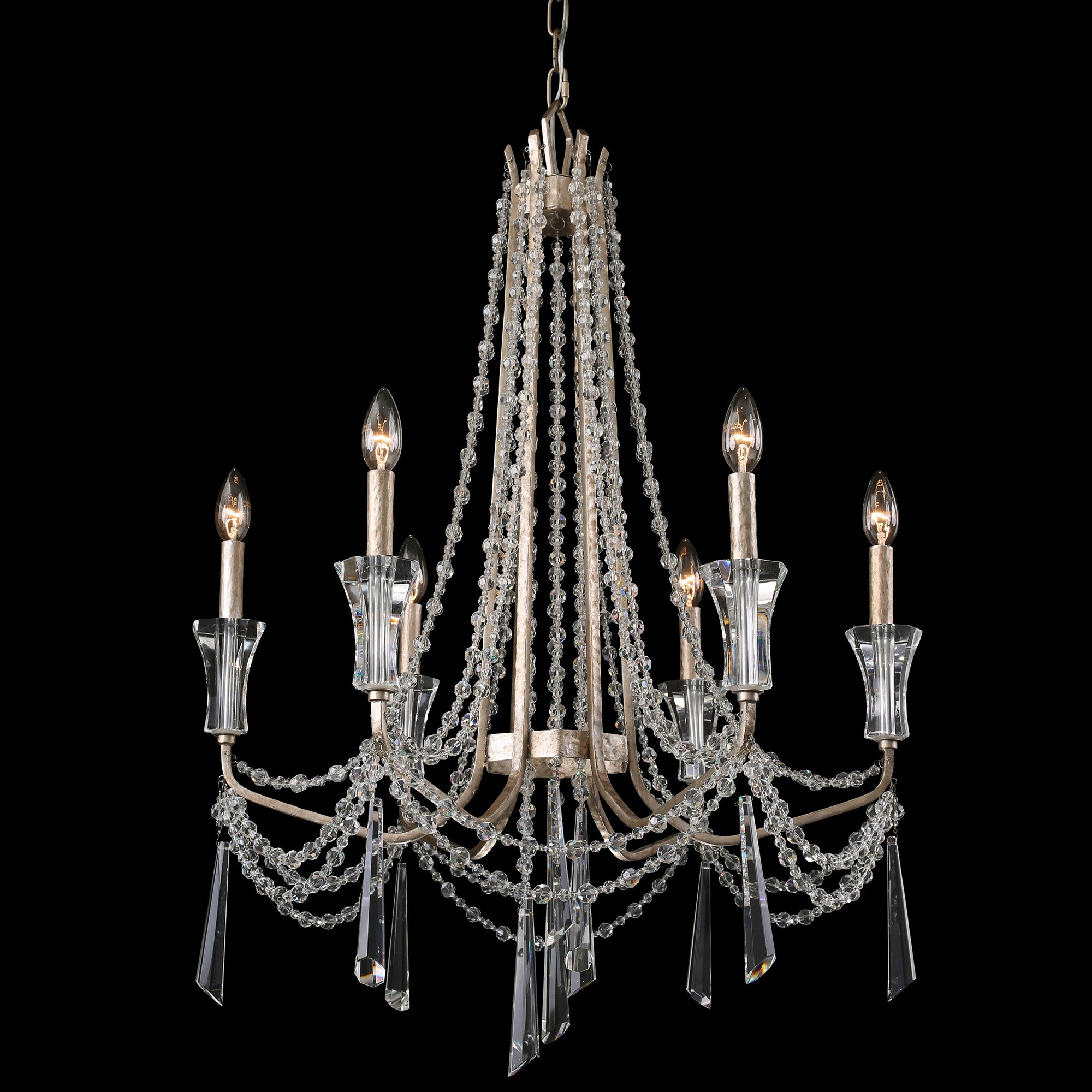 Crystal Chandelier Dining Room Varaluz Barcelona 6 Light Crystal Chandelier Wayfair