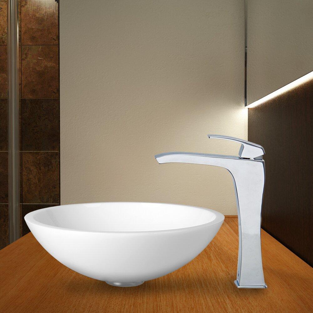 Flat Bathroom Sink : Flat Edged White Phoenix Stone Vessel Sink and Blackstonian Vessel ...