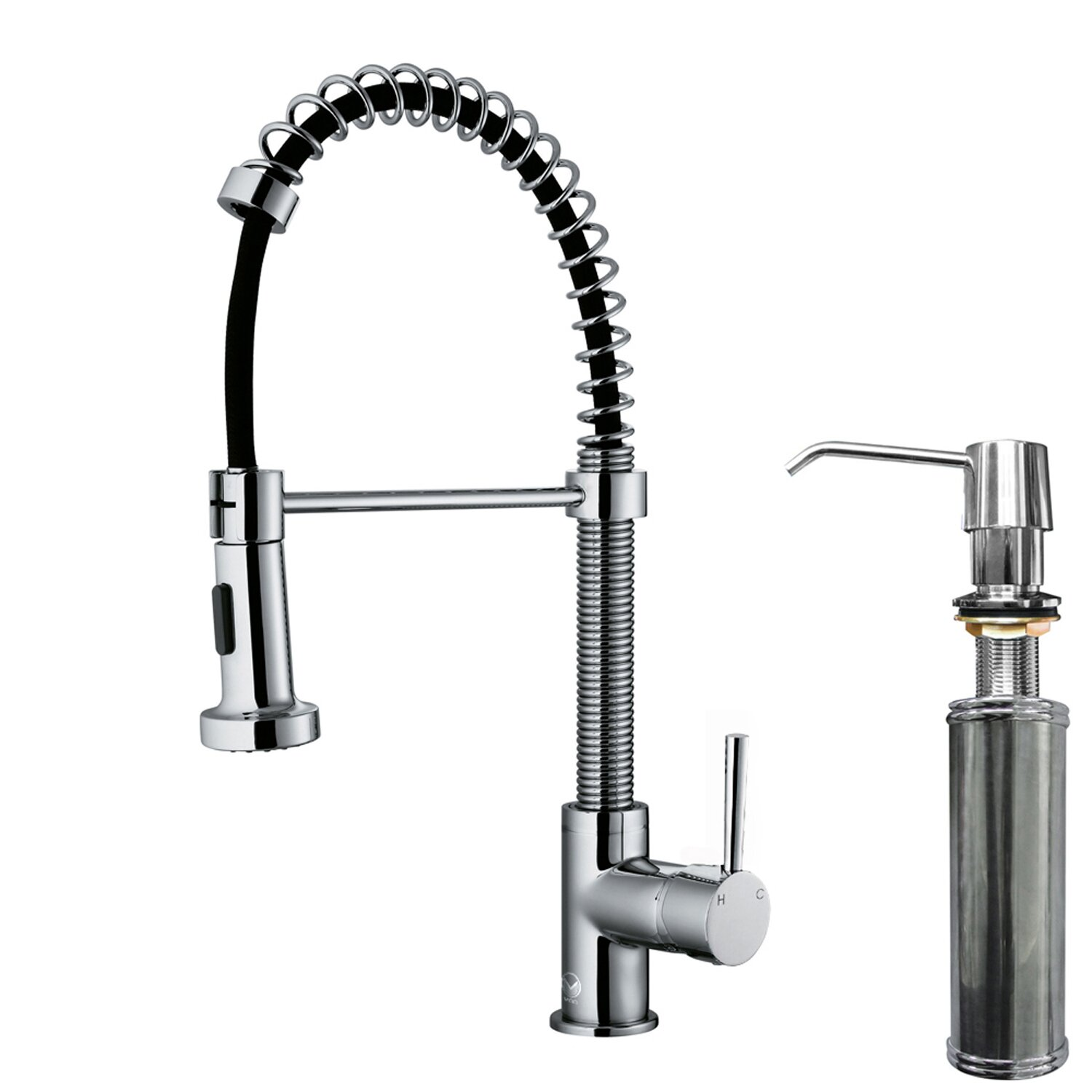 Vigo Edison Single Handle Pull-Down Spray Kitchen Faucet