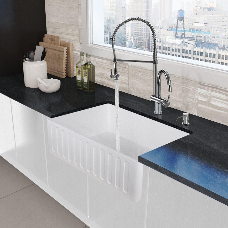 Vigo Dresden Pull-Down Spray Kitchen Faucet & Reviews ...