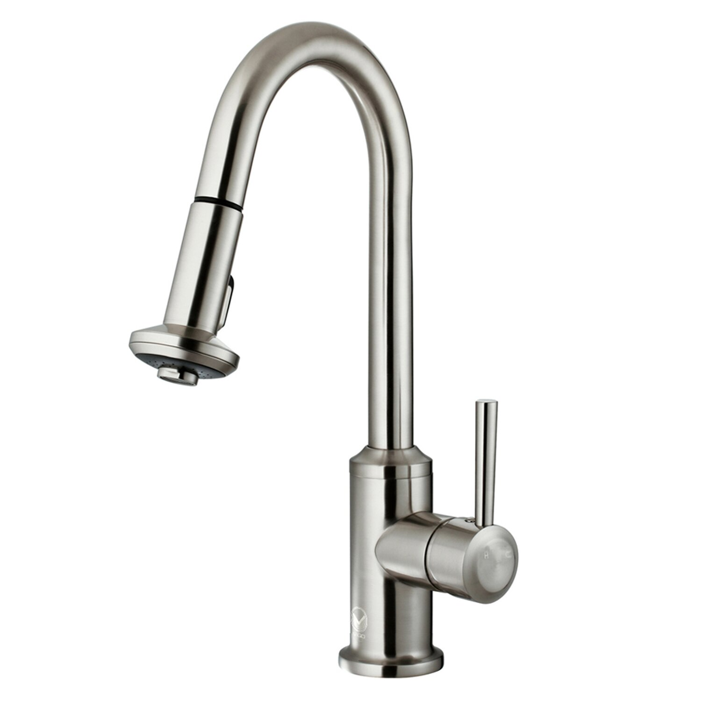 Vigo Astor Single Handle Pull Down Spray Kitchen Faucet Reviews Wayfair