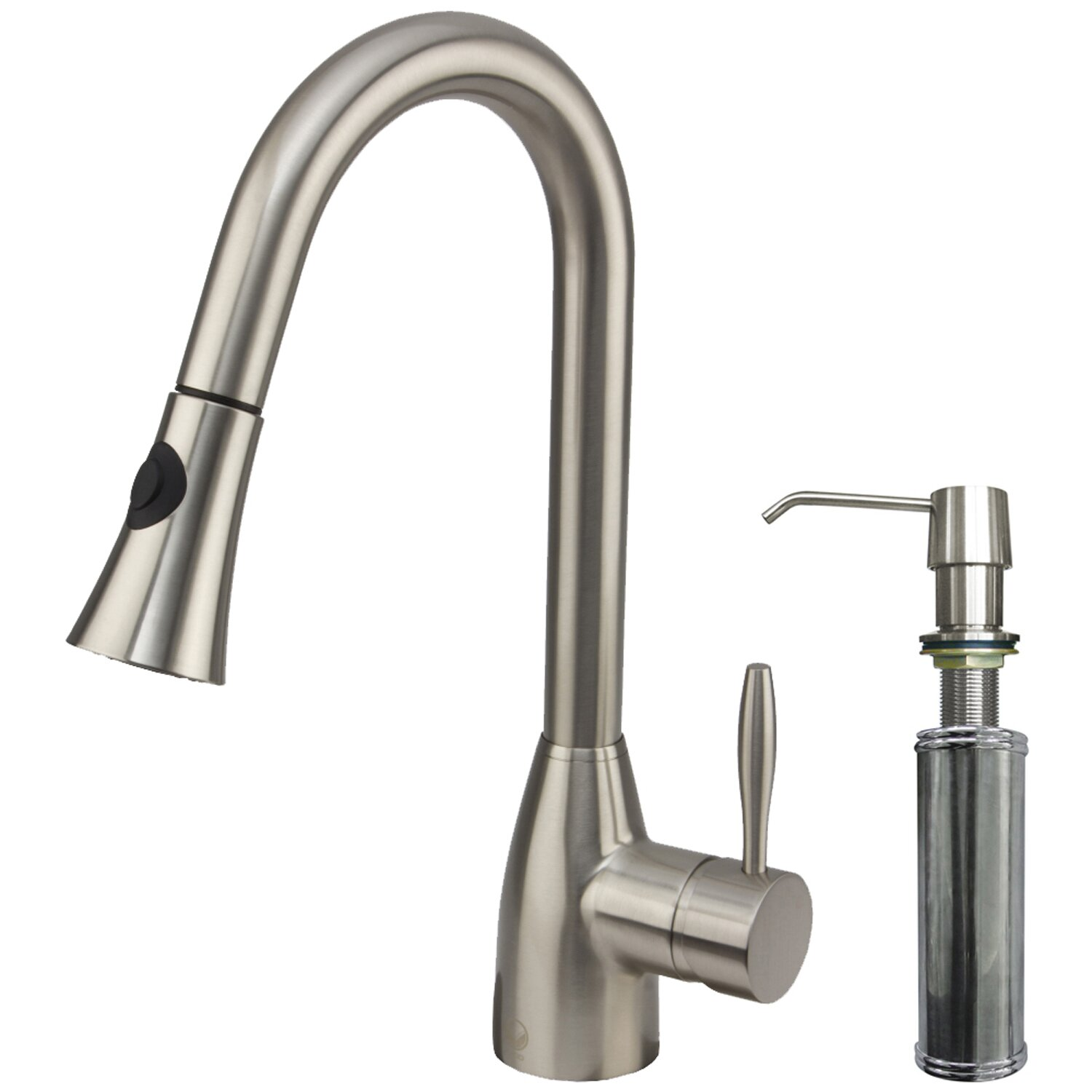 vigo kitchen faucet vigo aylesbury single handle pull down spray kitchen faucet with soap dispenser reviews wayfair 4863