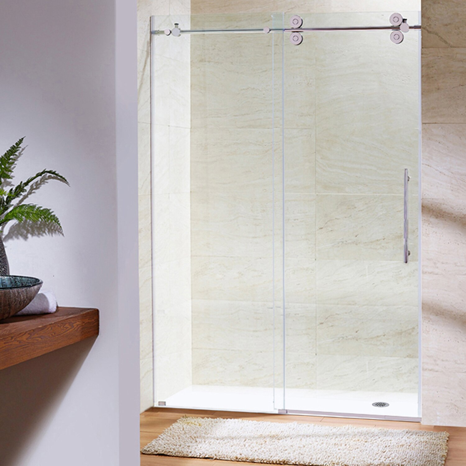 Vigo Elan 60 Quot X 74 Quot Single Sliding Frameless Shower Door