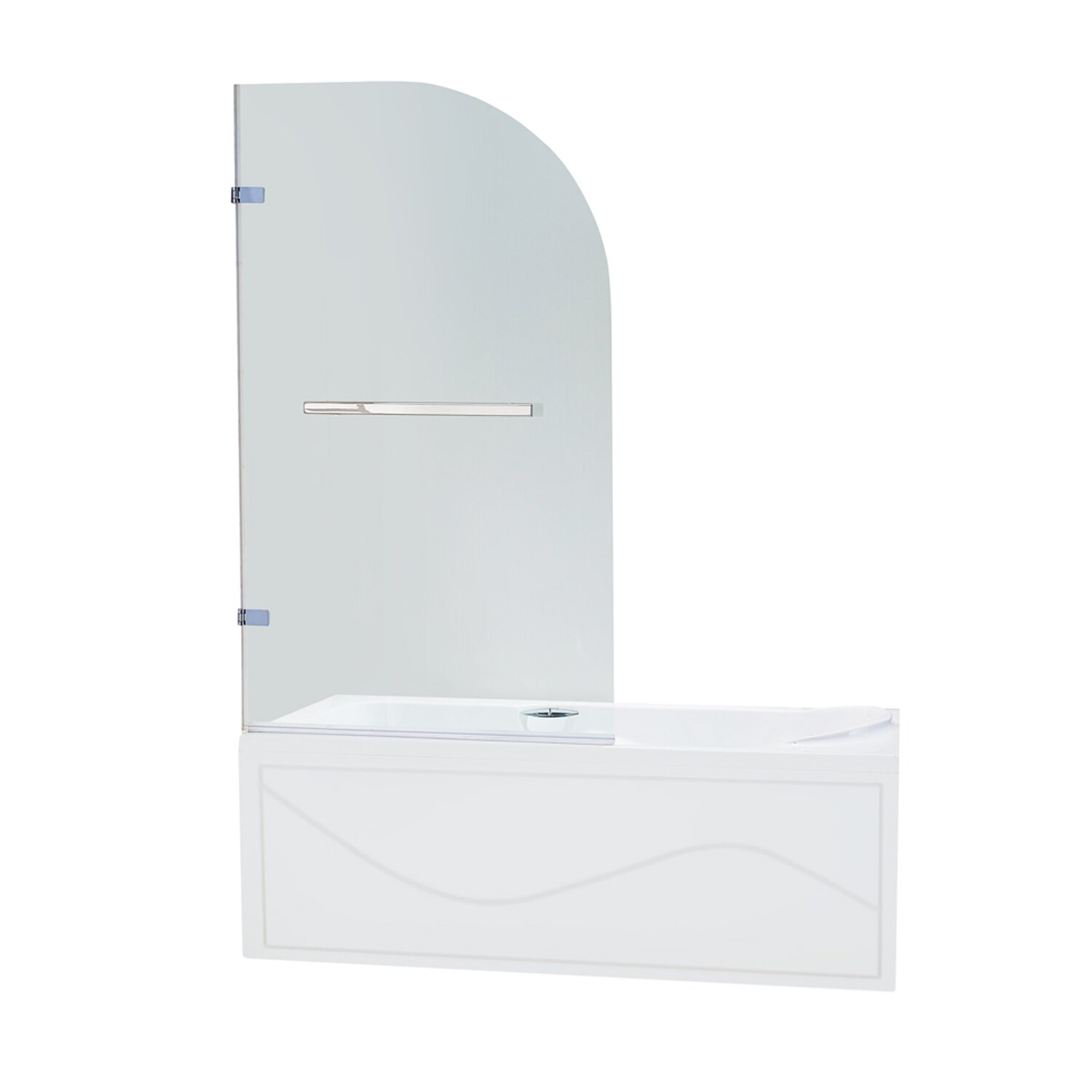 vigo orion 34 in curved bathtub door with 3125 in clear