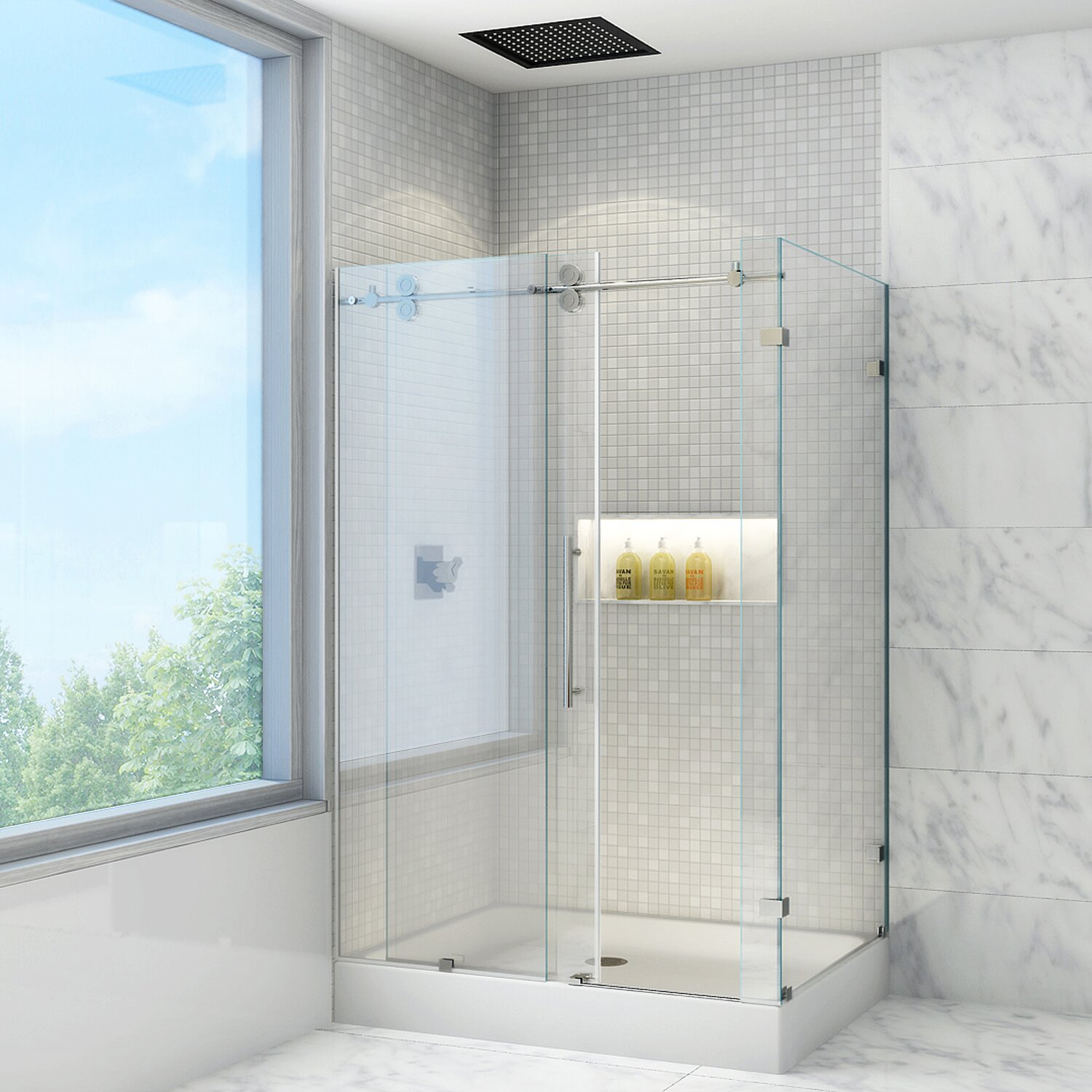 Vigo Winslow 36 X 48-in. Frameless Sliding Shower