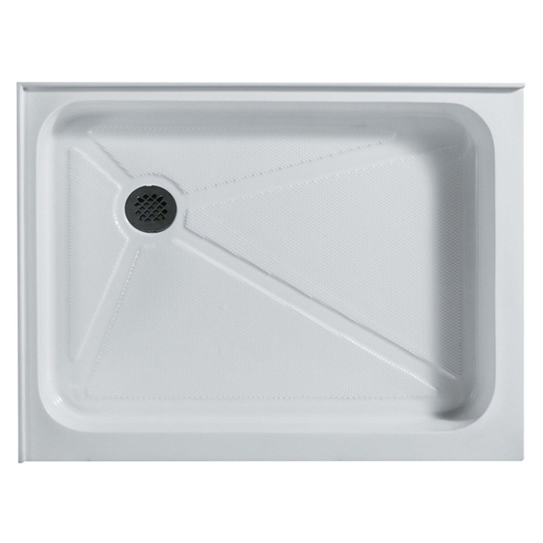 Vigo 36 x 48 in rectangular shower base left drain reviews wayfair for Fenetre 36 x 48