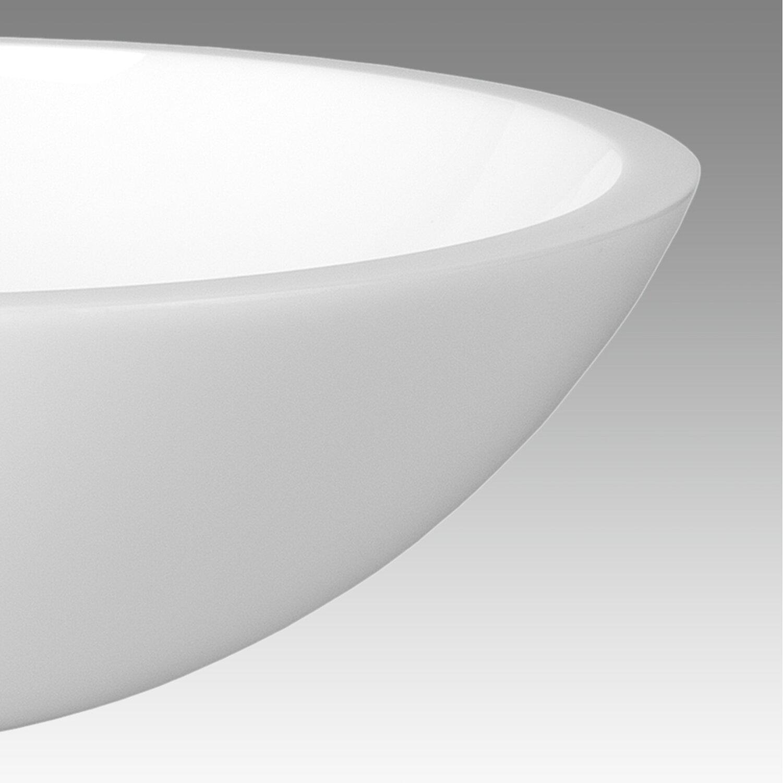 Vigo flat edged white phoenix stone vessel sink reviews for Flat bathroom sinks