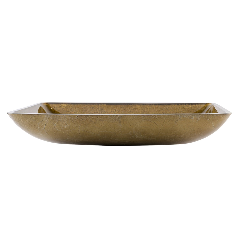 Vigo Rectangular Copper Glass Vessel Bathroom Sink Reviews Wayfair
