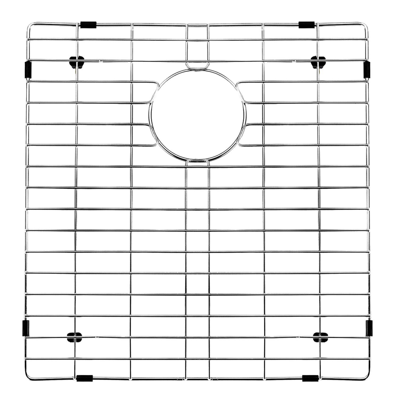 16 Rod Octagon Grid: Vigo Stainless Steel Bottom Grid, 16.625-in. X 17.75-in