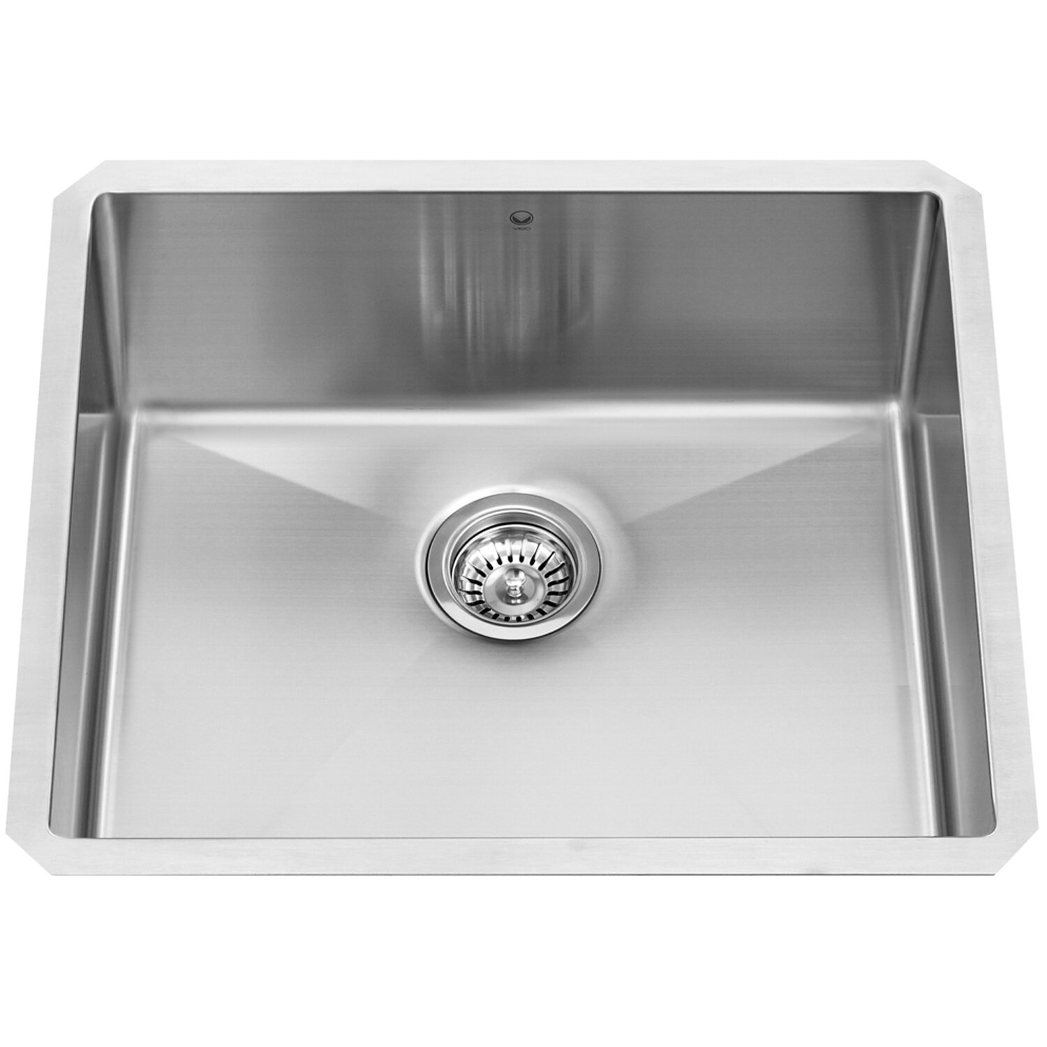 16 Gauge Undermount Kitchen Sink : Vigo Undermount Single Bowl 16 Gauge Stainless Steel Kitchen Sink ...
