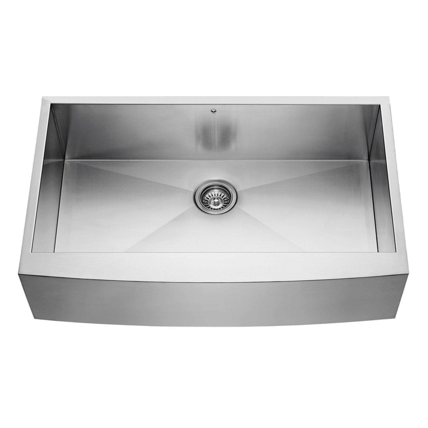 Vigo 36 inch farmhouse apron single bowl 16 gauge Stainless steel farmhouse sink