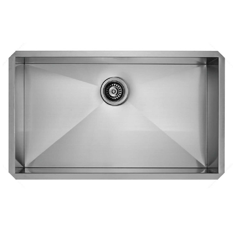 32 Inch Undermount Kitchen Sink: Vigo 32 Inch Undermount Single Bowl 16 Gauge Stainless