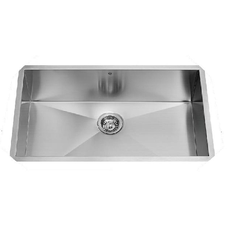 Vigo 32 Inch Undermount Single Bowl 16 Gauge Stainless Steel Kitchen Sink Reviews Wayfair