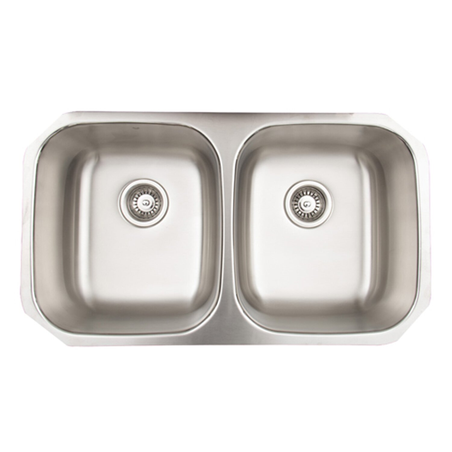 32 Inch Undermount Kitchen Sink : 32 inch Undermount 50/50 Double Bowl 18 Gauge Stainless Steel Kitchen ...