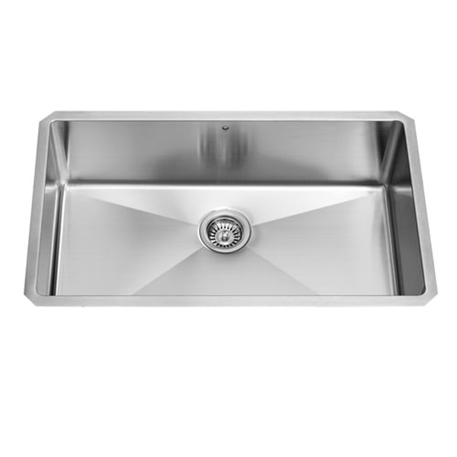 kitchen sinks single bowl vigo 32 inch undermount single bowl 16 stainless 6090