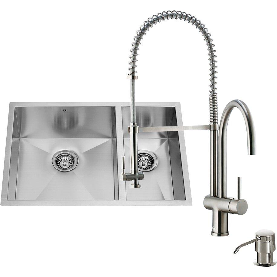 Undermount Stainless Double Bowl Kitchen Sink