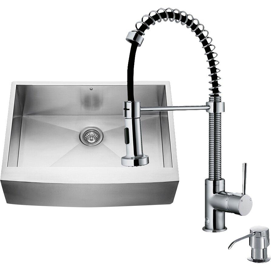 25 Farm Sink Of Kitchen Lowes Double Chrome Kitchen Sink: Vigo 36 Inch Farmhouse Apron Single Bowl 16 Gauge