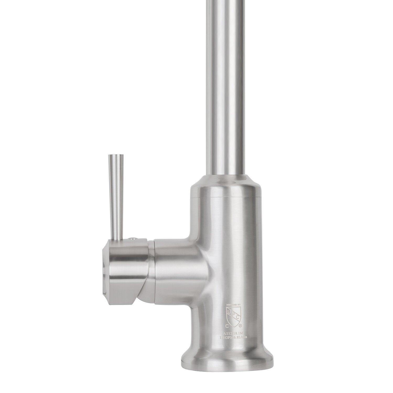 Vigo Astor Single Handle Pull Down Spray Kitchen Faucet