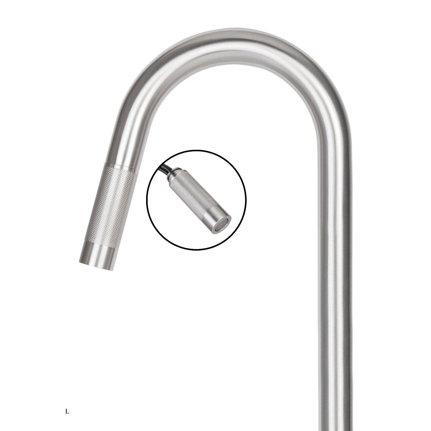 ... Gramercy Single Handle Pull-Down Kitchen Faucet & Reviews Wayfair