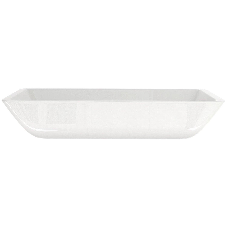 Vigo flat edged phoenix stone rectangular vessel bathroom - Rectangular vessel bathroom sinks ...