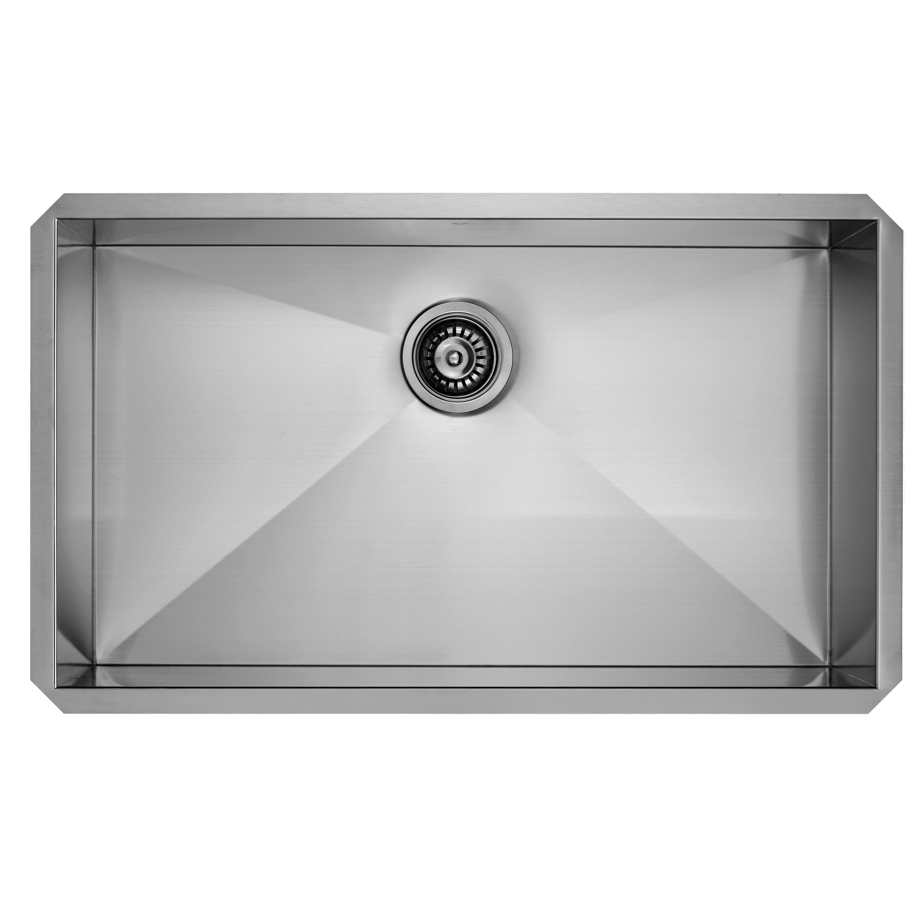 32 Inch Undermount Kitchen Sink : ... 32 inch Undermount Single Bowl 16 Gauge Stainless Steel Kitchen Sink