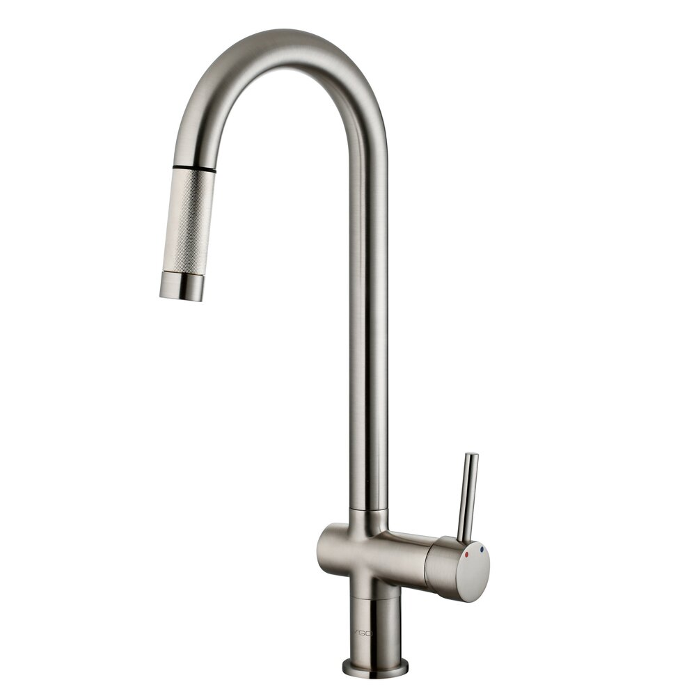 vigo gramercy single handle pull kitchen faucet