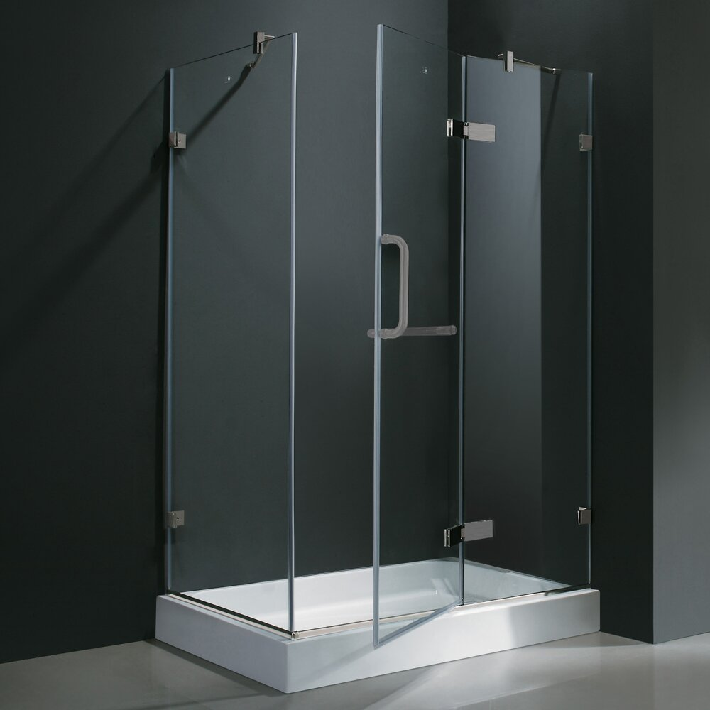 Vigo Monteray 32 X 48-in. Frameless Shower Enclosure With
