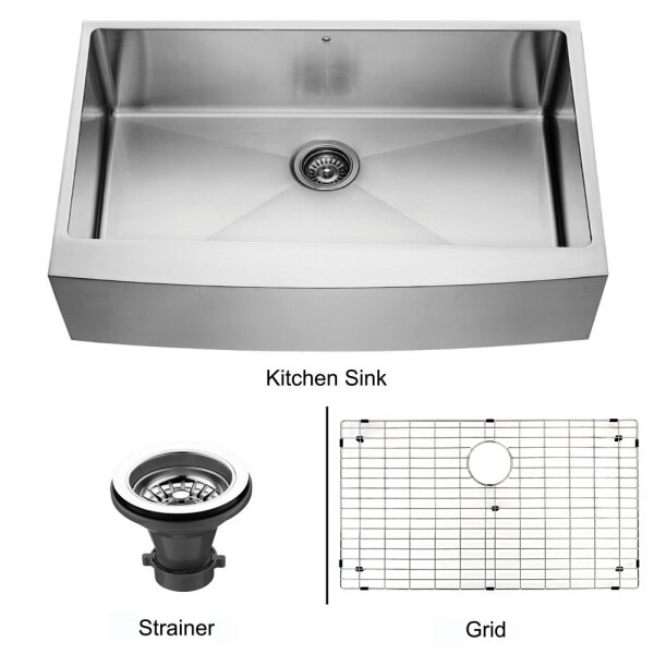 28 30 inch 16 stainless steel apron kitchen sink zuhne 30 i