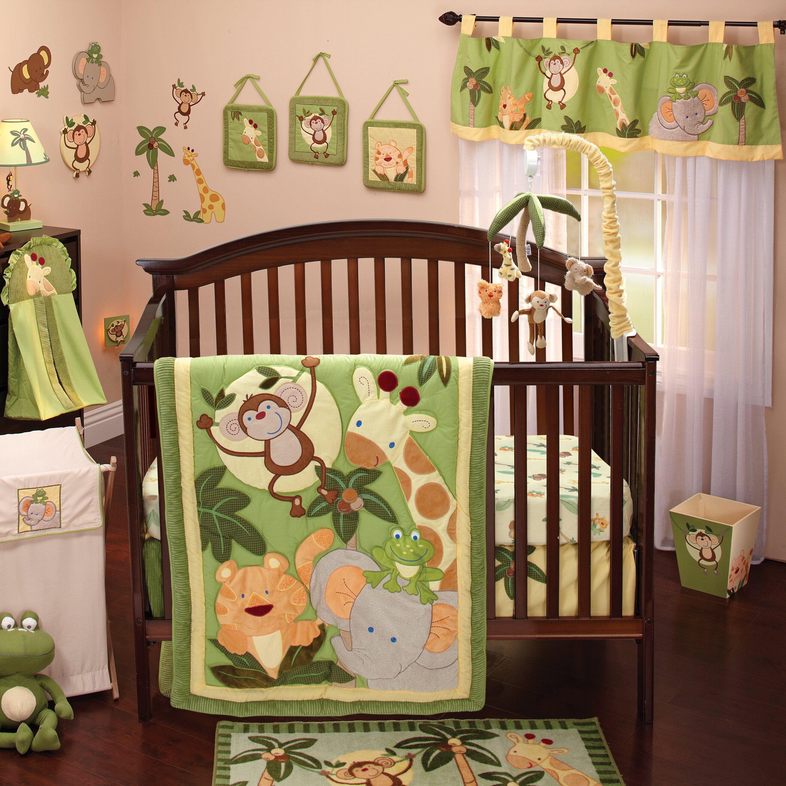 Nojo Jungle Babies 8 Piece Crib Bedding Set Amp Reviews