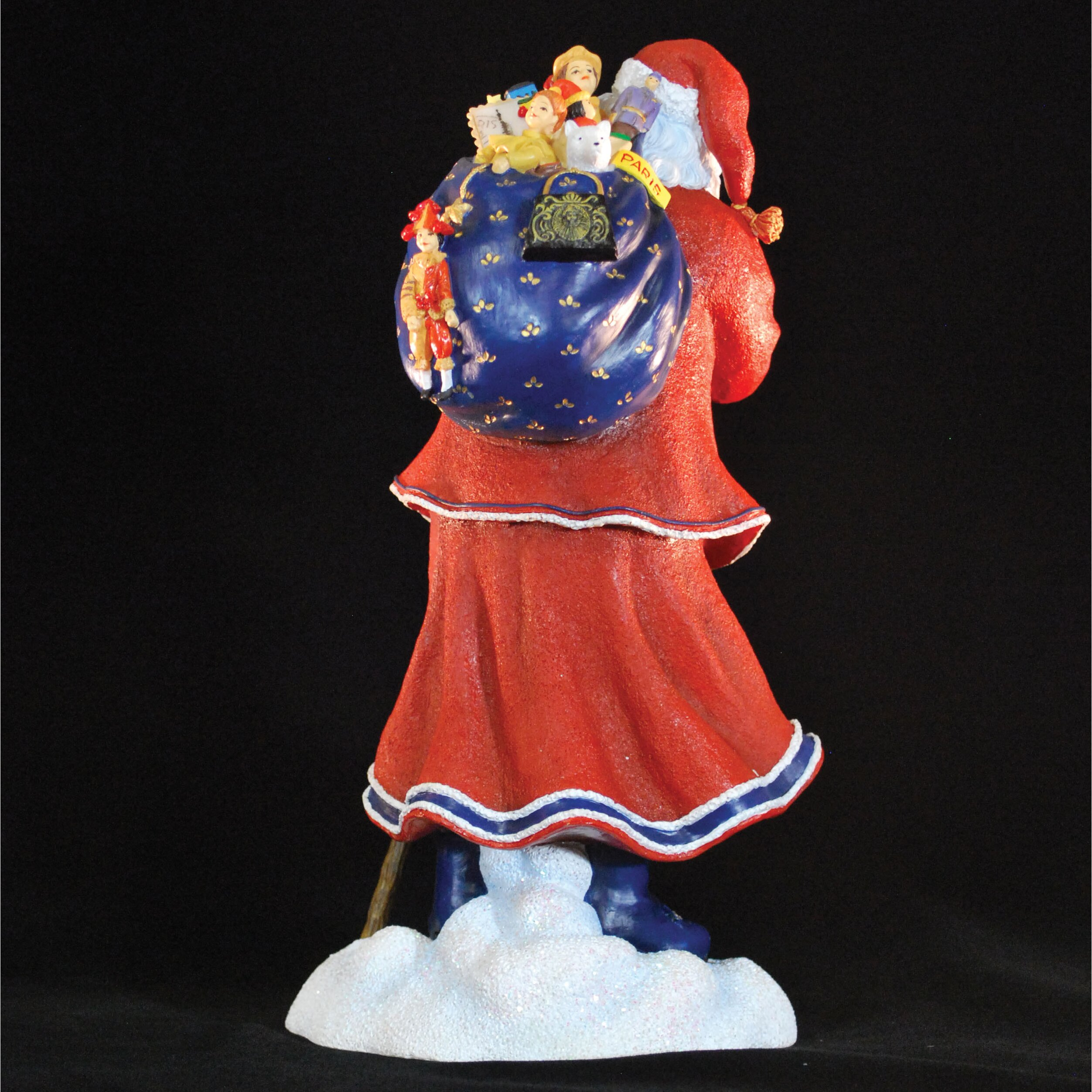 Precious moments pere noel of paris limited edition santa with blue bag of toys figurine wayfair - Petit pere noel figurine ...