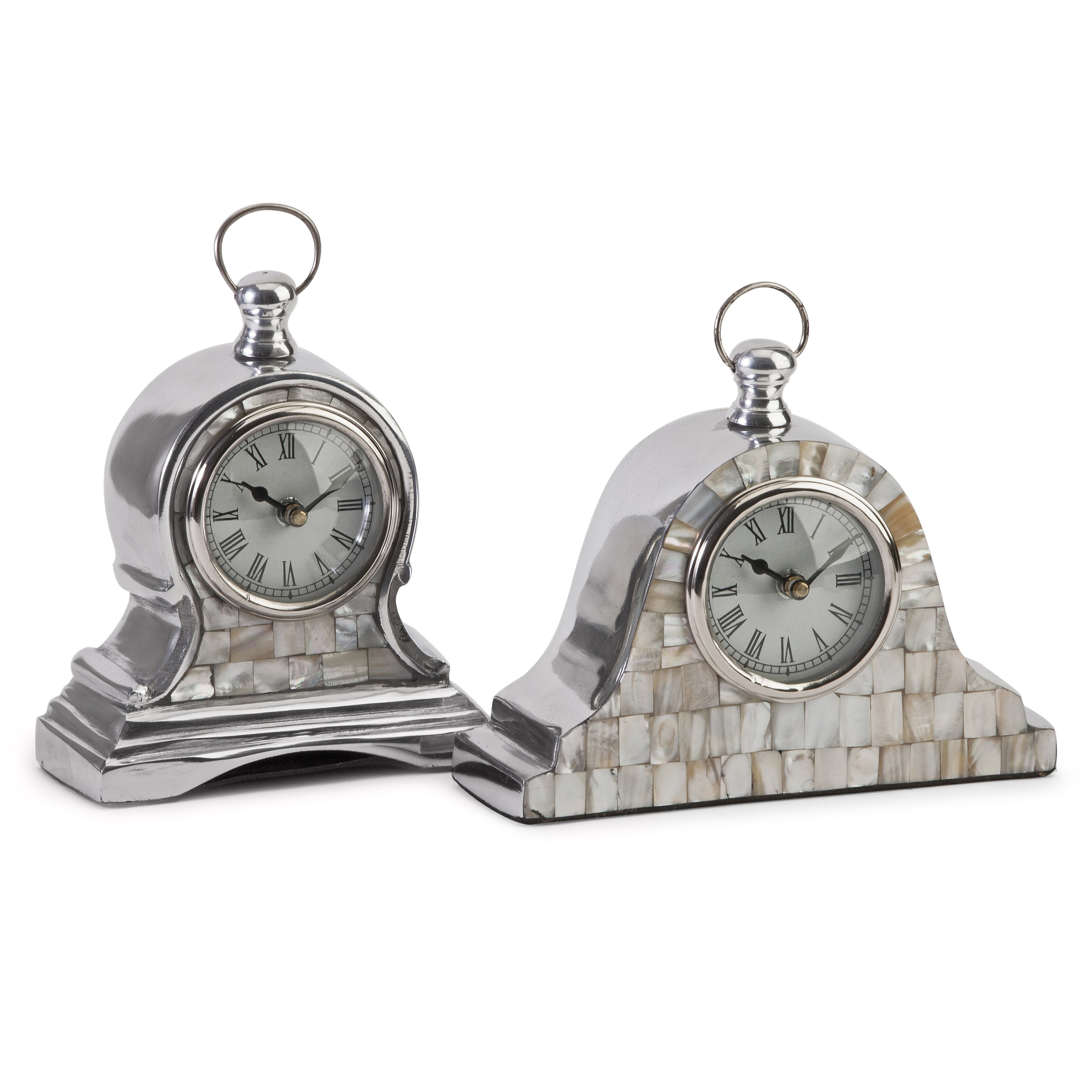 Imax 2 Piece Mother Of Pearl Table Clock Set Amp Reviews