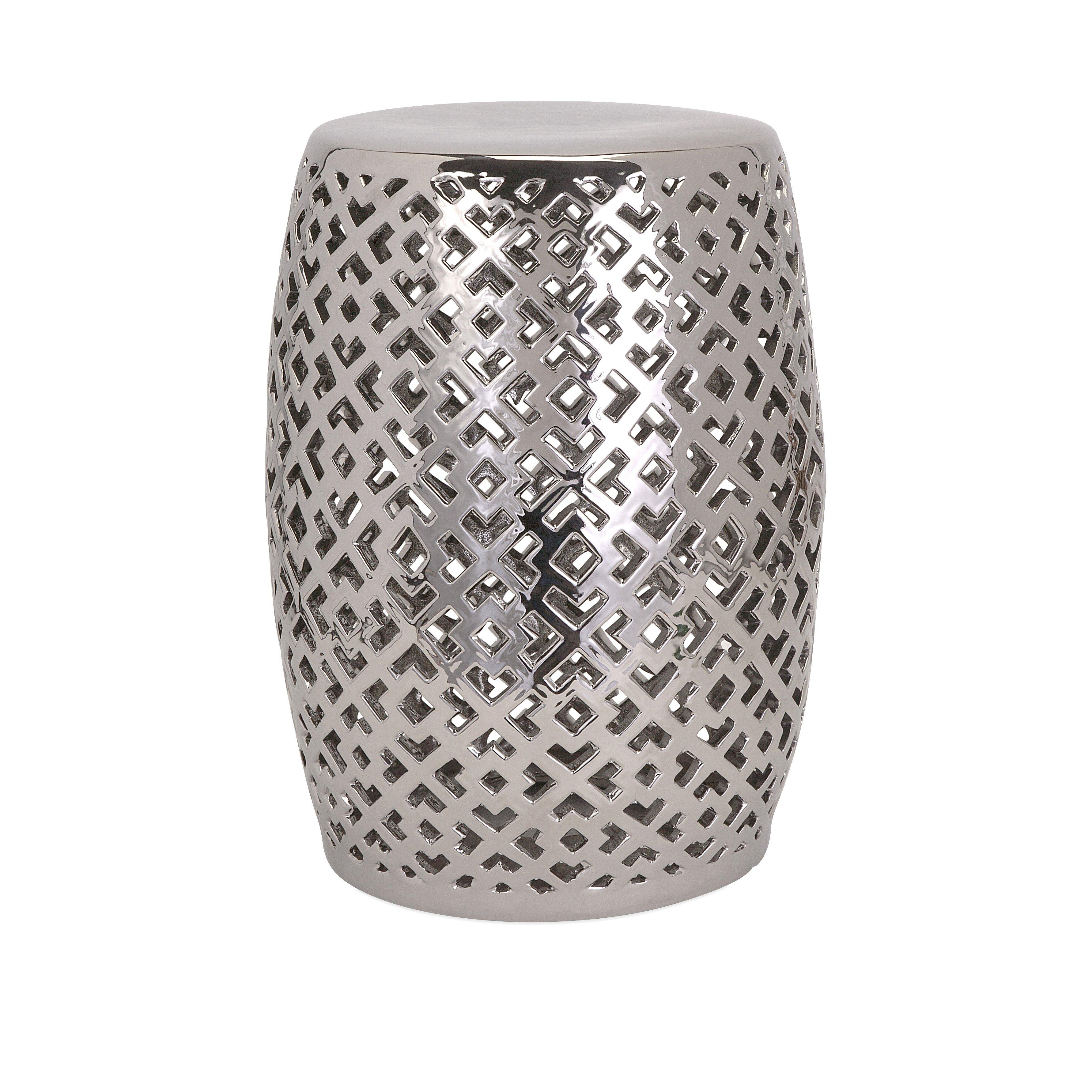 Imax Lexor Ceramic Garden Stool Amp Reviews Wayfair