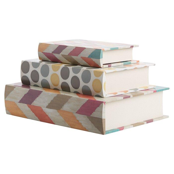 Imax 3 Piece Confetti Book Box Set Amp Reviews Wayfair