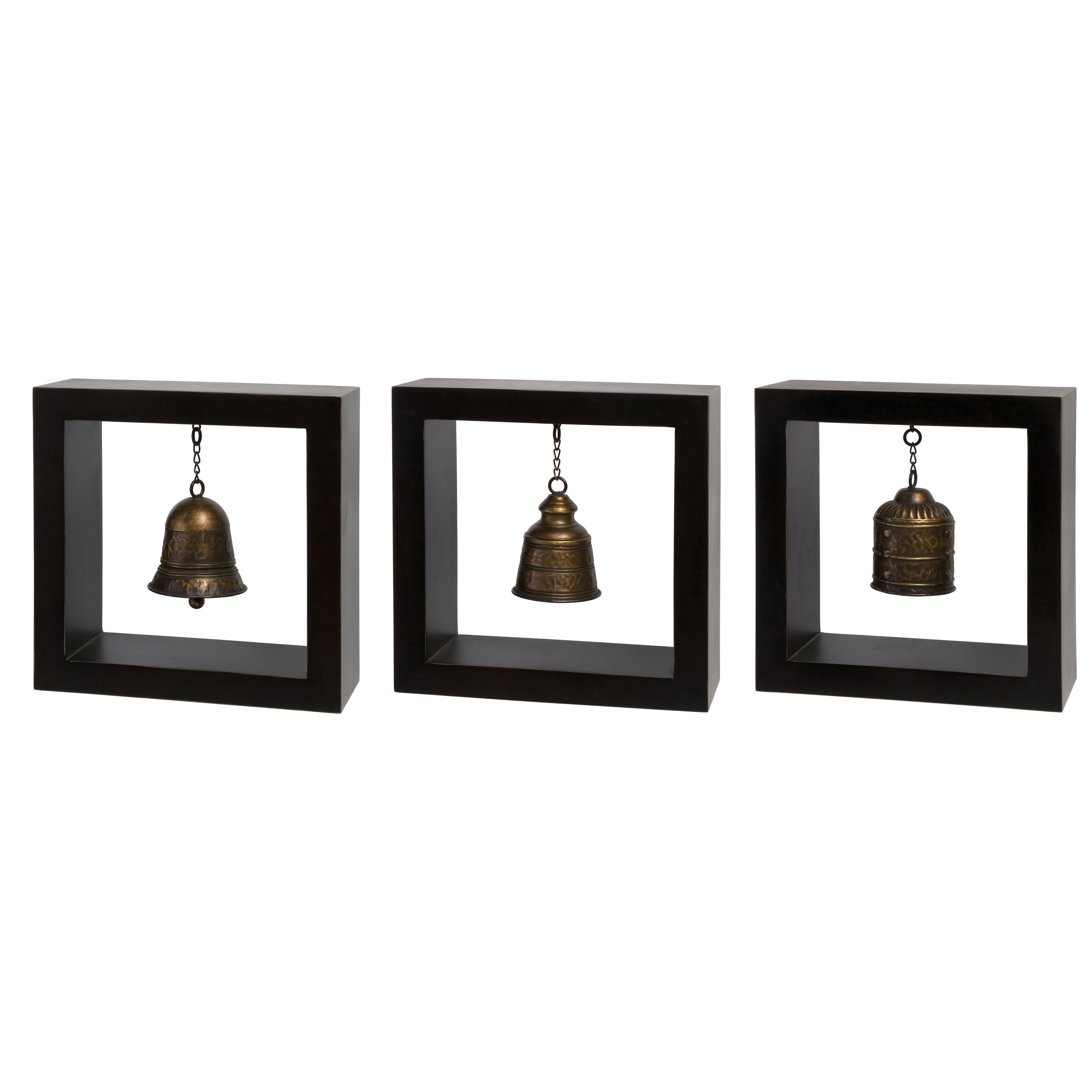 Wall Decor Sets Of 3 : Imax piece framed bell wall d?cor set reviews wayfair