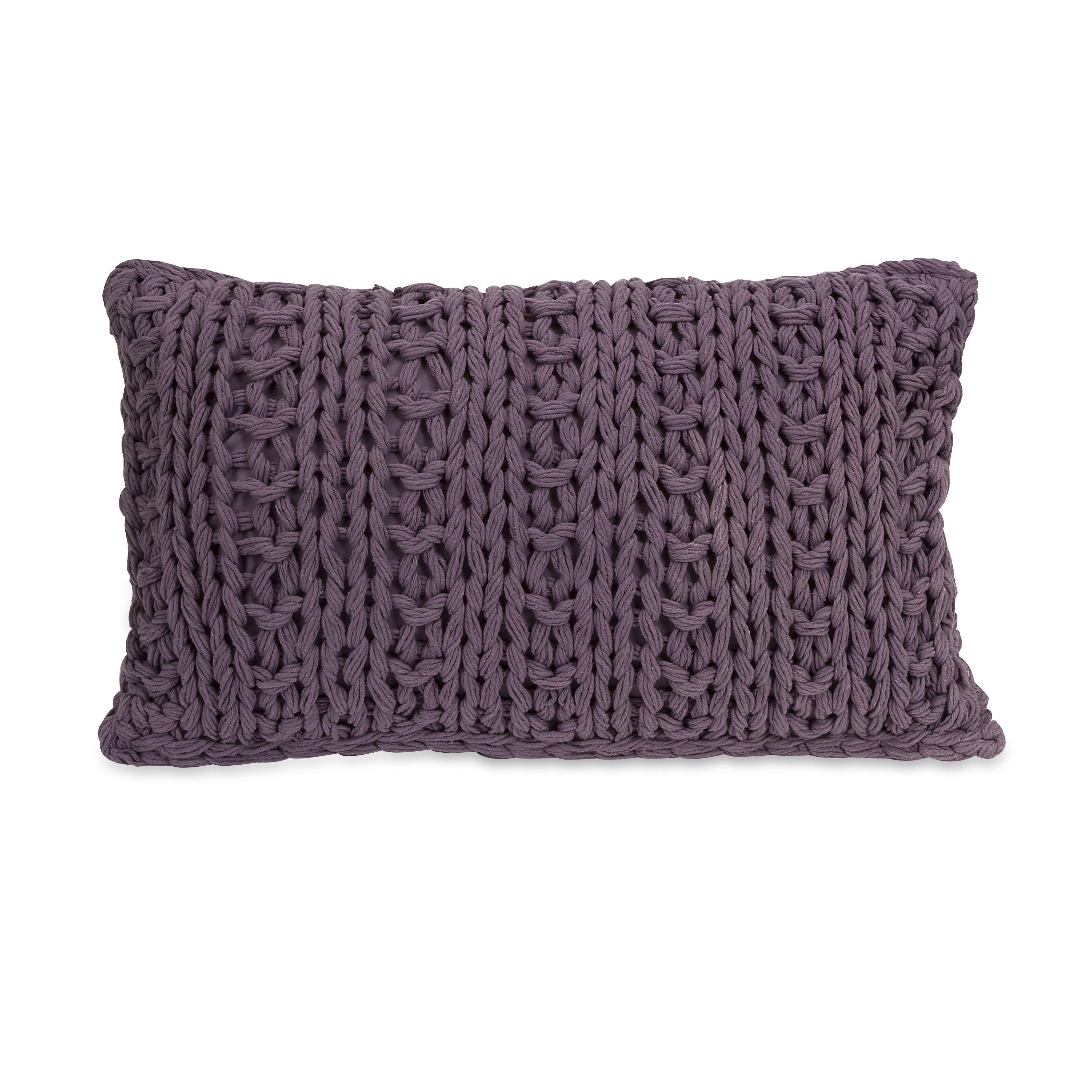 Imax Mailie Crochet Cotton Lumbar Pillow Amp Reviews Wayfair