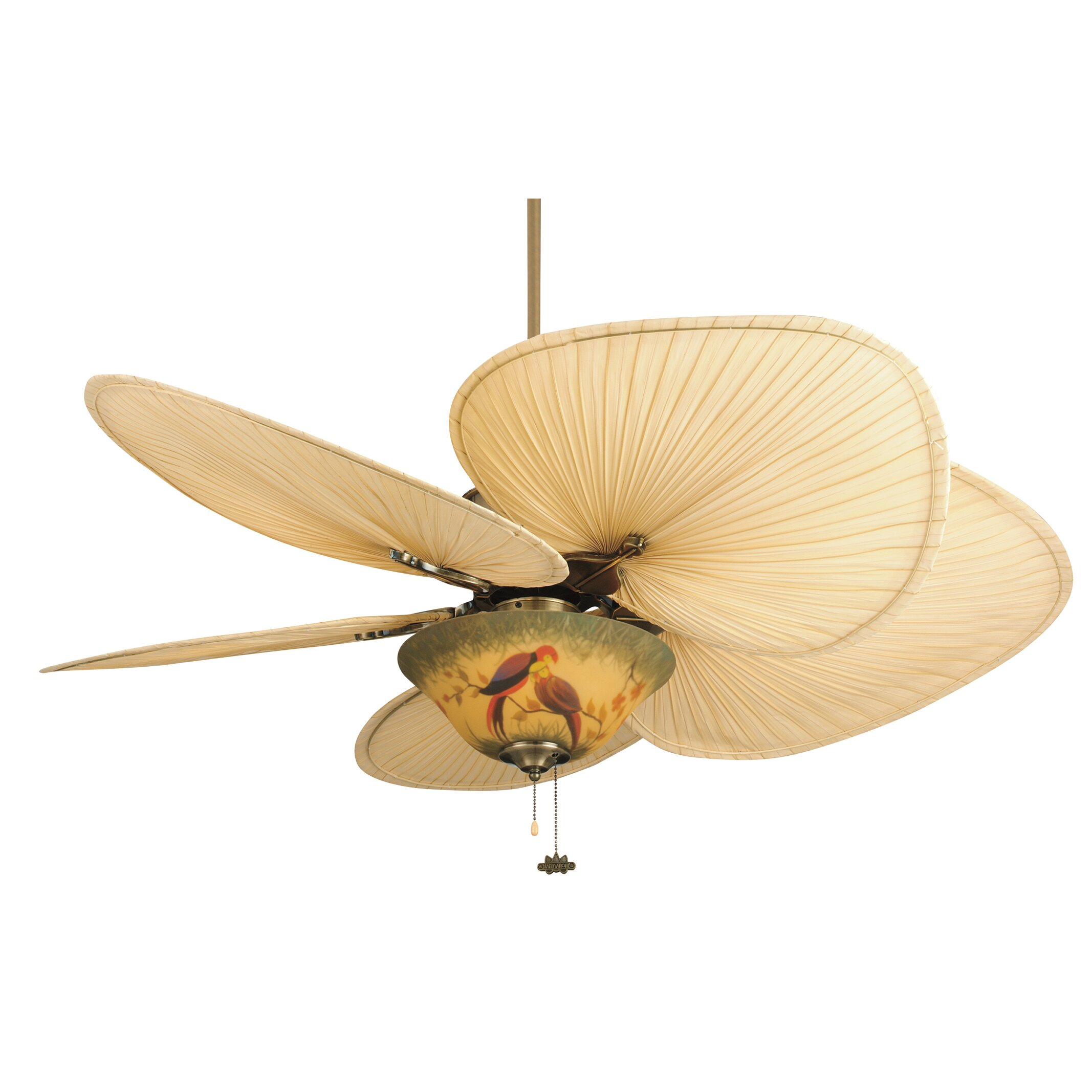 Ceiling fan with leaf blades - Fanimation 52 Quot Islander 5 Palm Blade Ceiling Fan
