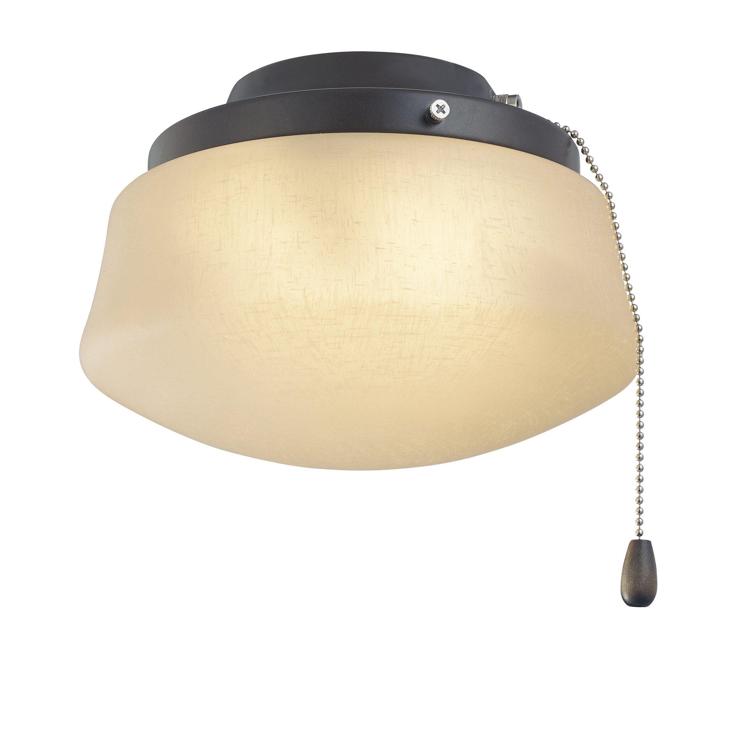 Fanimation 1 Light Schoolhouse Ceiling Fan Light Kit