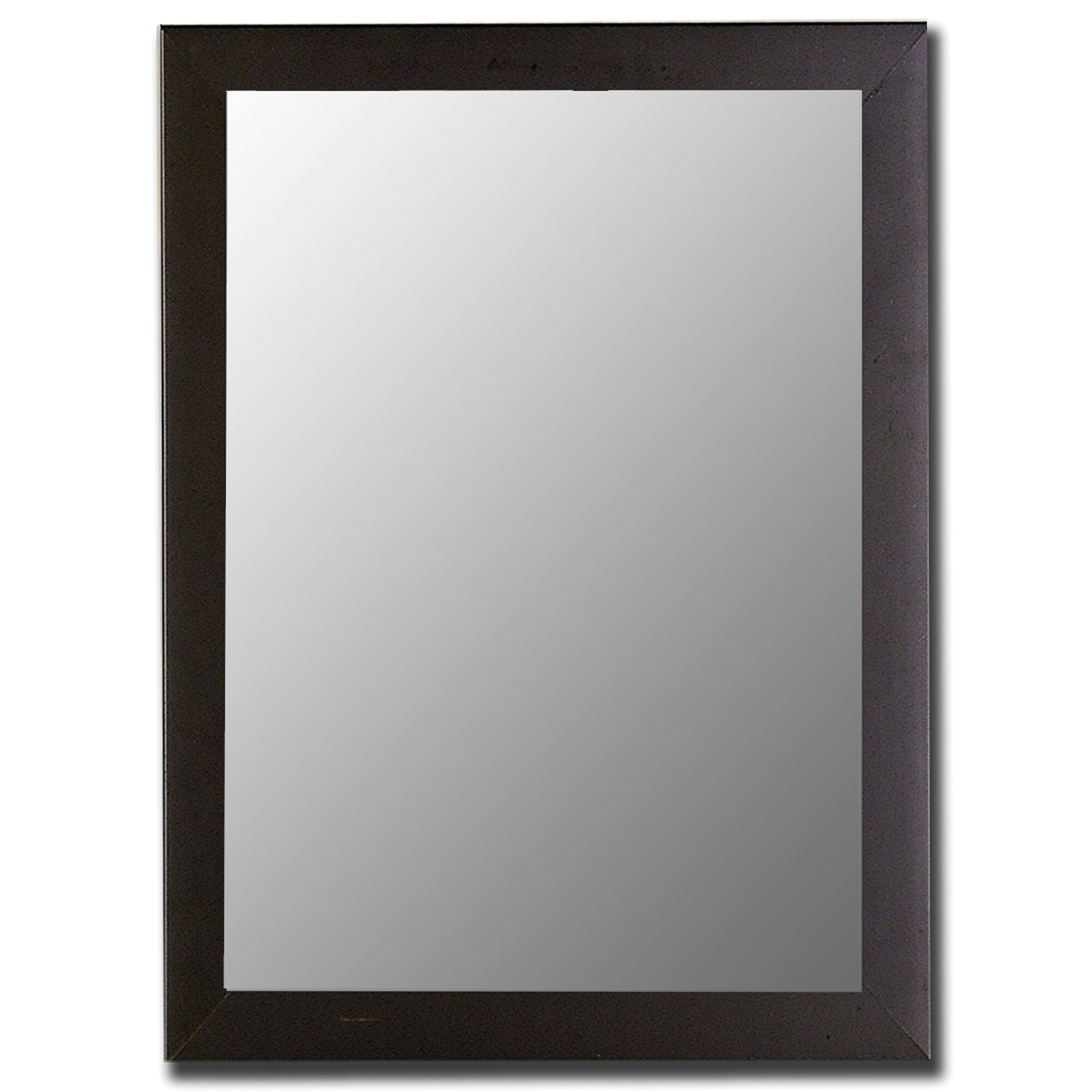 Hitchcock butterfield company modern satin black wall for Modern wall mirror
