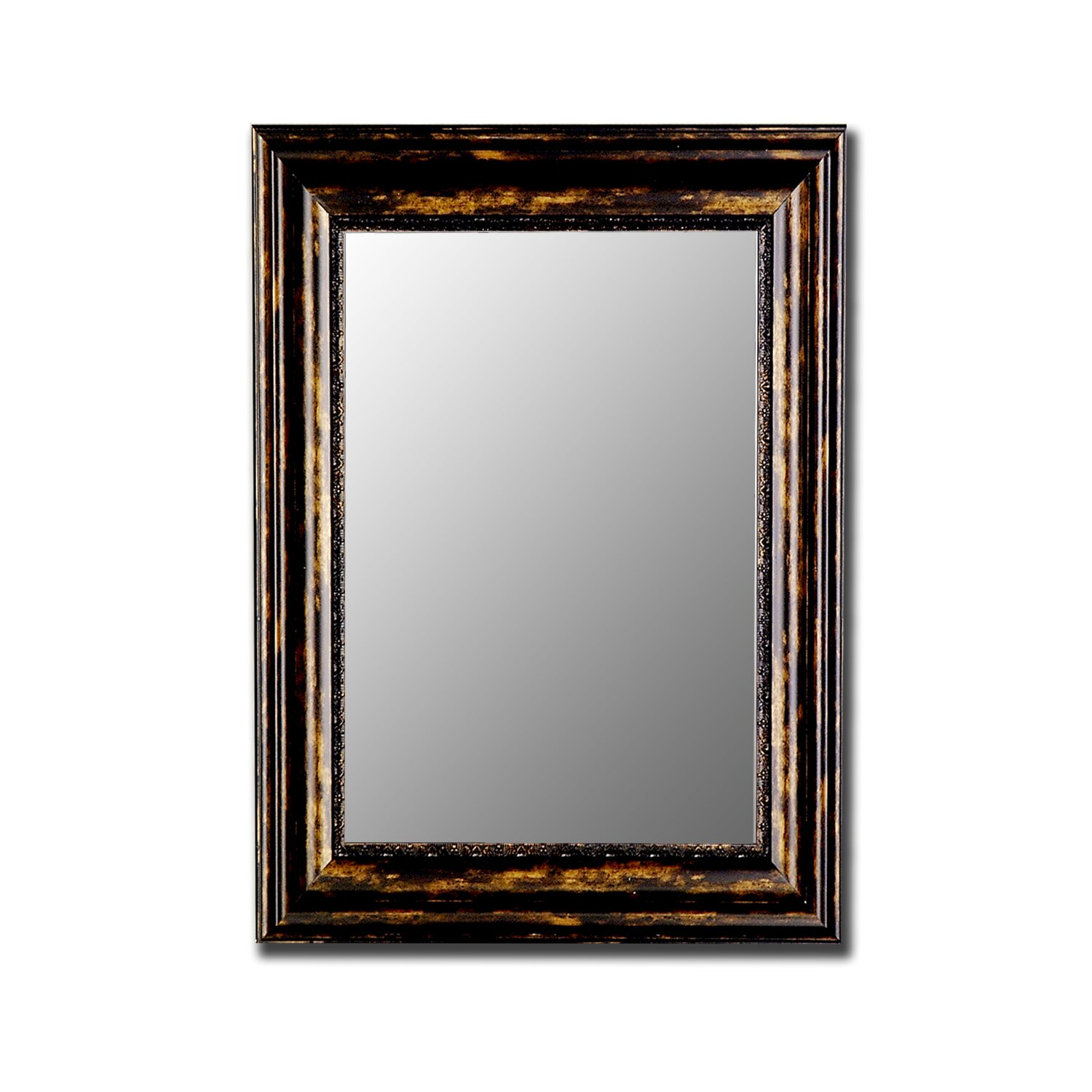 Hitchcock butterfield company antique copper black wall for Black wall mirror