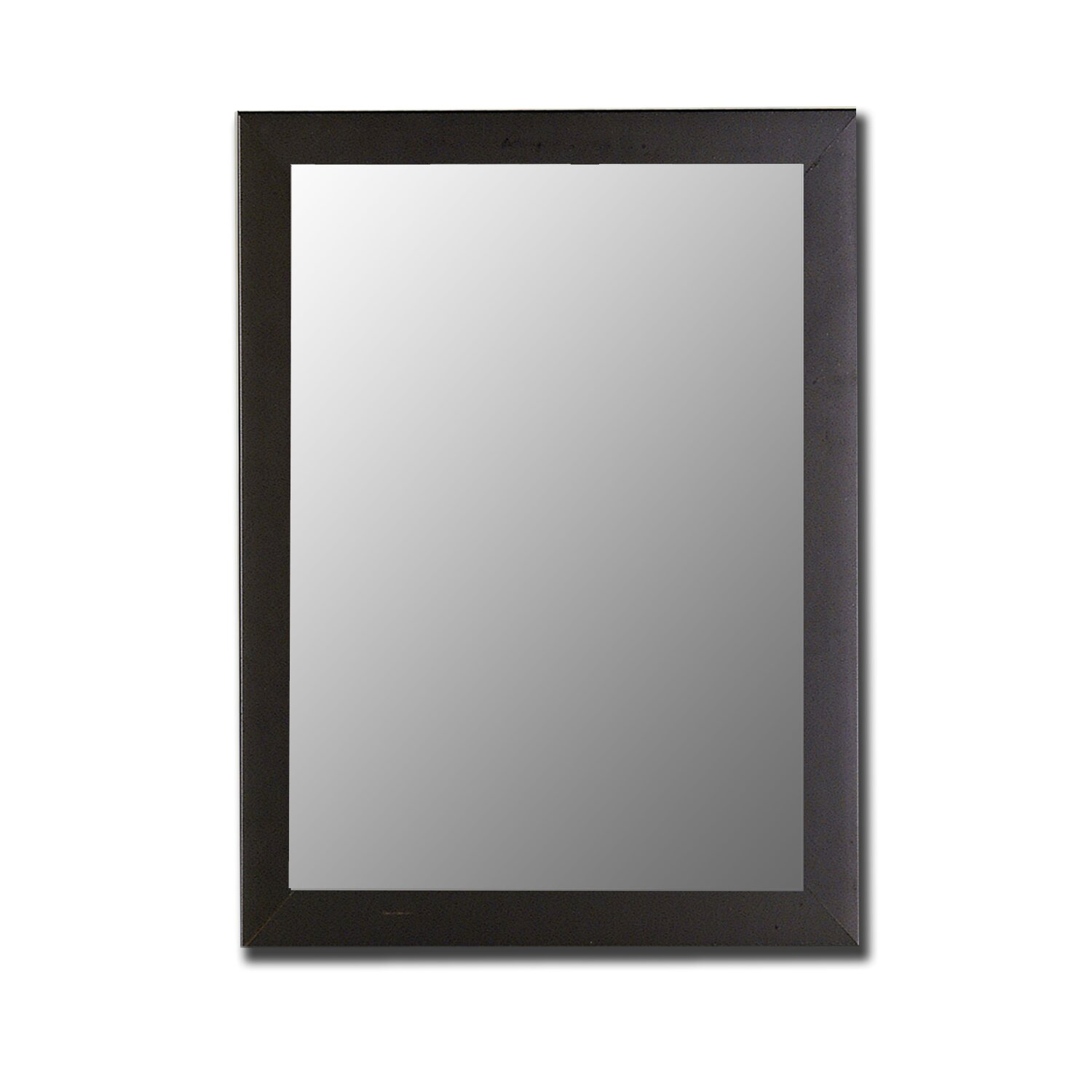 Hitchcock butterfield company modern satin black wall for Mirror black