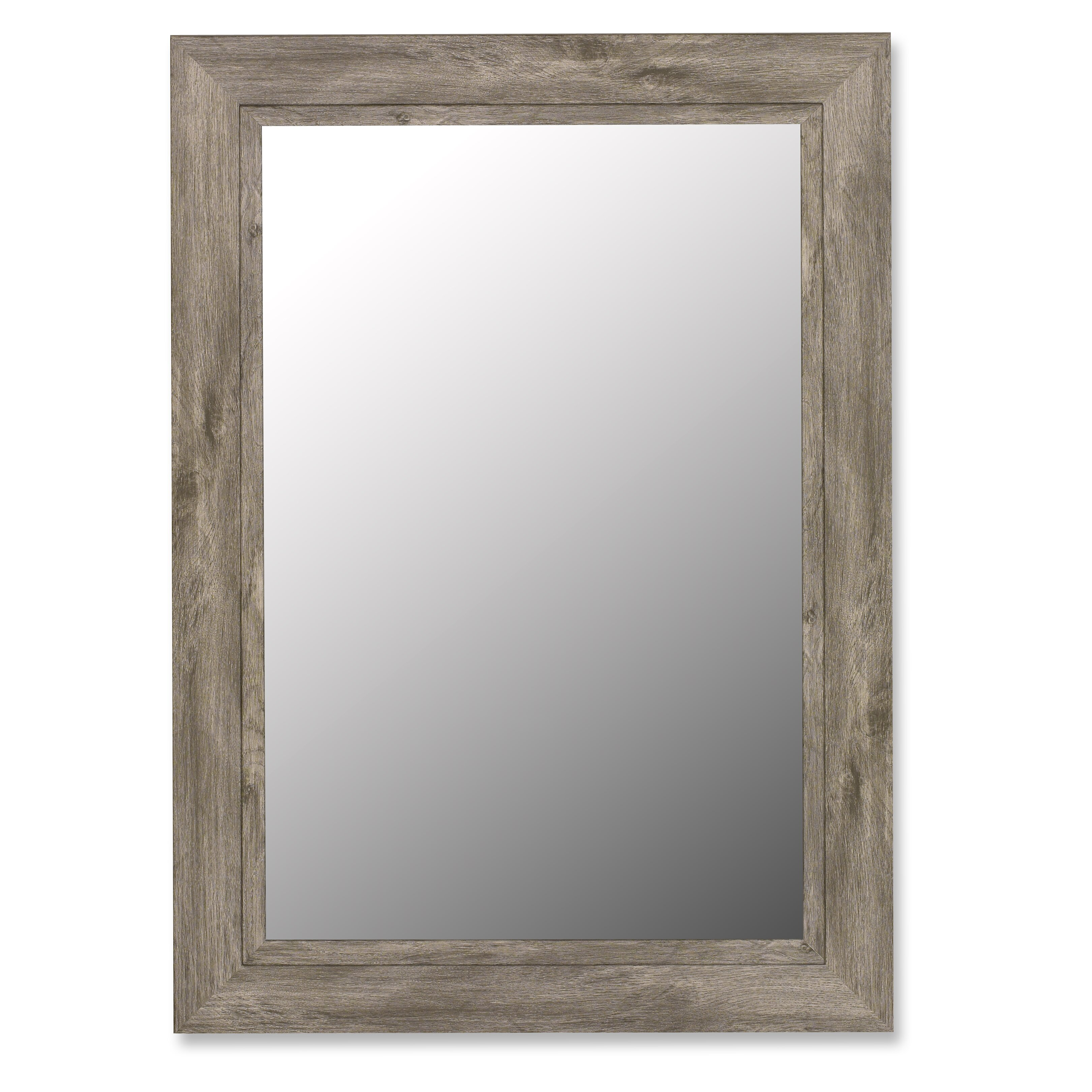 August Grove Coastal Weathered Gray Wall Mirror Amp Reviews